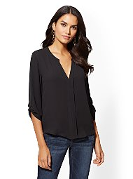 Display product reviews for Soho Soft Shirt - Split-Neck Blouse
