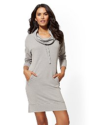 Display product reviews for Soho Street - Cowl-Neck Sweatshirt Dress