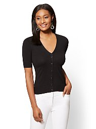 Display product reviews for 7th Avenue - V-Neck Chelsea Cardigan