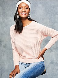 Display product reviews for Metallic Lace-Up Cuff Dolman Sweater