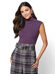 Display product reviews for 7th Avenue - Sleeveless Turtleneck Sweater
