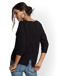 Display product reviews for Lace-Up Back Sweater