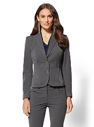 Display product reviews for 7th Avenue - Grey Two-Button Jacket