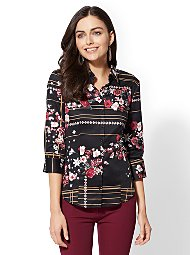 Display product reviews for 7th Avenue - Print Madison Stretch Shirt