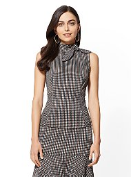 Display product reviews for 7th Avenue - Tie-Detail Peplum Top