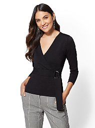 Display product reviews for 7th Avenue - V-Neck Wrap Sweater