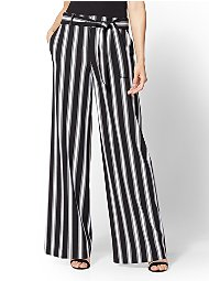 Display product reviews for 7th Avenue Pant - Black & White Stripe Palazzo