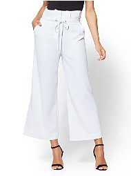 Display product reviews for 7th Avenue Pant - White Paperbag-Waist Culotte