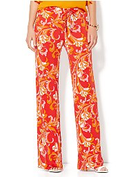 Display product reviews for 7th Avenue Pant - Stripe Paperbag-Waist Palazzo