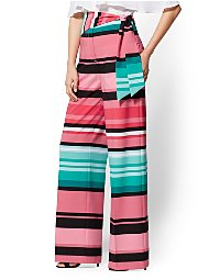 Display product reviews for 7th Avenue Pant - Multicolor Stripe Palazzo