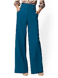 Display product reviews for 7th Avenue Pant - Button-Accent Palazzo
