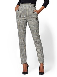 Display product reviews for 7th Avenue Pant - Belted Plaid Slim Leg