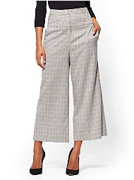 Display product reviews for 7th Avenue Pant - Plaid Crop Palazzo