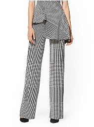 Display product reviews for 7th Avenue Pant - Houndstooth Wide-Leg Ponte