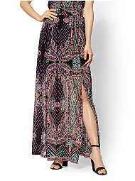 Display product reviews for Paisley Overlay Maxi Skirt