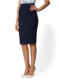 Display product reviews for 7th Avenue - Seamed Pencil Skirt - All-Season Stretch