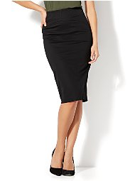 Display product reviews for 7th Avenue - Lace-Up Pencil Skirt
