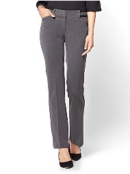 Display product reviews for 7th Avenue Petite Pant - Grey Straight Leg - Signature