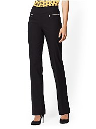 Display product reviews for 7th Avenue Pant - Pull-On Straight Leg - Zip Accent