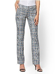 Display product reviews for 7th Avenue Pant - Straight-Leg - Signature - Blue Plaid
