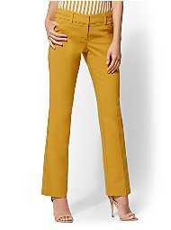 Display product reviews for 7th Avenue Pant - Petite Straight-Leg - Signature - Gold - All-Season Stretch