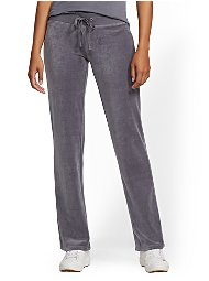 Display product reviews for Tall Velour Straight-Leg Pant