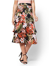 Display product reviews for 7th Avenue - Floral Pleated Midi Skirt
