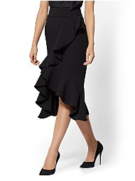 Display product reviews for Black Ruffled Wrap Skirt