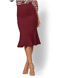 Display product reviews for 7th Avenue - Burgundy Trumpet Skirt