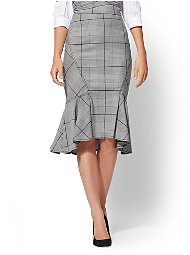 Display product reviews for 7th Avenue - Plaid Flounce Skirt