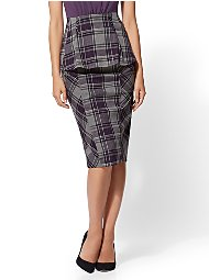 Display product reviews for 7th Avenue - Plaid Pencil Skirt