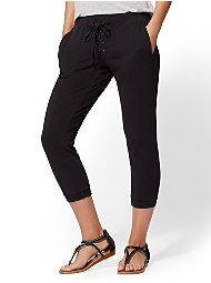 Display product reviews for Soho Street - Black Lace-Up Jogger Pant