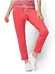 Display product reviews for Soho Street - Stripe-Waistband Boyfriend Pant