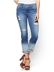 Display product reviews for Soho Jeans - Panel-Hem Curvy Boyfriend