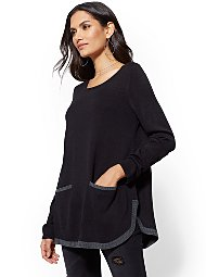 Display product reviews for Tipped Tunic Sweater