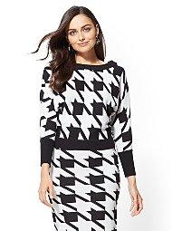 Display product reviews for Houndstooth Dolman Sweater