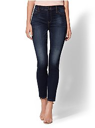 Display product reviews for Soho Jeans - NY&C Runway - Petite High-Waist Pull-On Legging - Dark Blue