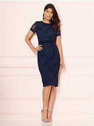 Display product reviews for Eva Mendes Collection - Navy Romina Sheath Dress