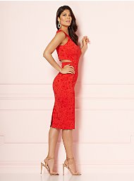 Display product reviews for Eva Mendes Collection - Graziela Cutout Sheath Dress