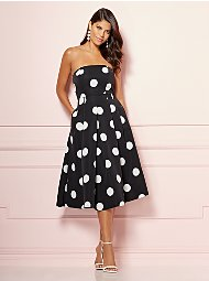 Display product reviews for Eva Mendes Collection - Dot-Print Del Mar Dress