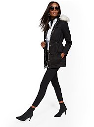 Display product reviews for Faux Fur-Trim Sherpa-Lined Cozy Anorak