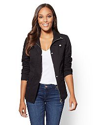 Display product reviews for Button-Accent Anorak Jacket