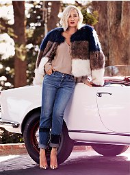 Display product reviews for Tricolor Faux-Fur Crop Jacket
