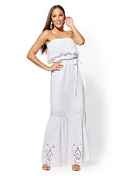 Display product reviews for White Eyelet Maxi Dress