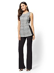 Display product reviews for Plaid Twofer Jumpsuit