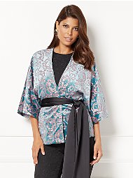 Display product reviews for Eva Mendes Collection - Manu Embellished Kimono Jacket