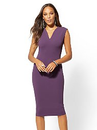 Display product reviews for 7th Avenue - V-Neck Sheath Dress