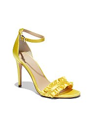 Display product reviews for Eva Mendes Collection - Ruffled Ankle-Strap Sandal