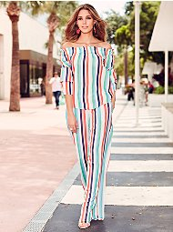 Display product reviews for Sweet Pea - Striped Palazzo Pant
