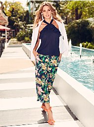 Display product reviews for Sweet Pea - Floral-Print Palazzo Pant